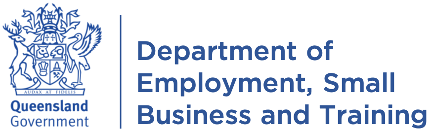 Department of Employment, Small Business and Training logo
